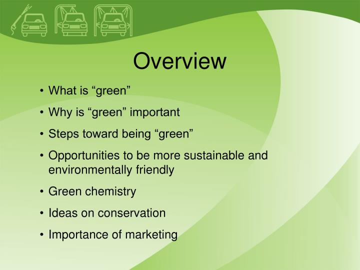 the importance of going green In simple words, people should go green to save earth why should we take efforts now in order to save earth in future very few people understand that it is important to change their lifestyle now in order to see the results of these changes in a few decades.