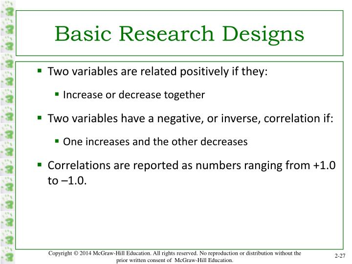 Basic Research Designs