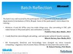 batch reflection