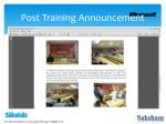 post training announcement3