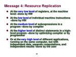 message 4 resource replication2