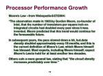 processor performance growth