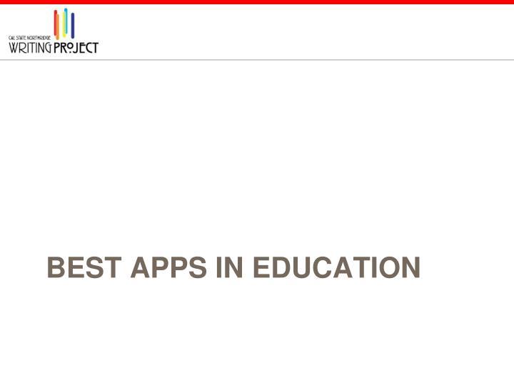 Best Apps in Education