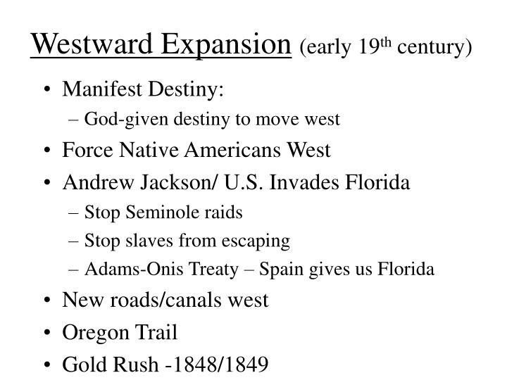 westward expansion early 19 th century n.