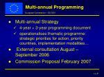multi annual programming