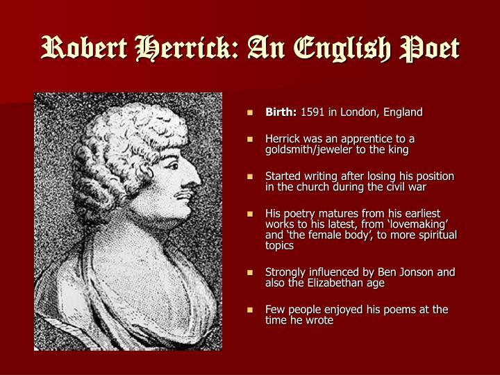Robert herrick an english poet