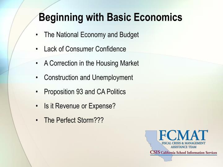 Beginning with basic economics