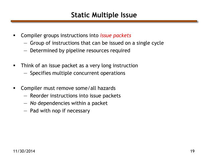Static Multiple Issue