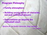 program philosphy