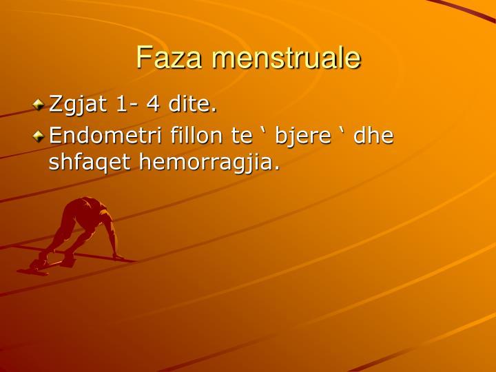 Faza menstruale