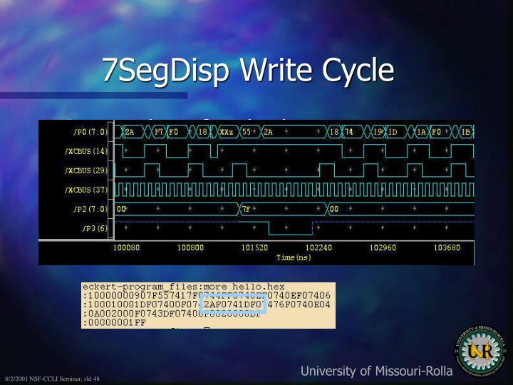 7SegDisp Write Cycle
