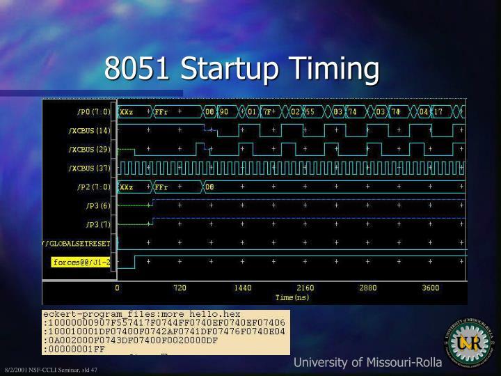 8051 Startup Timing