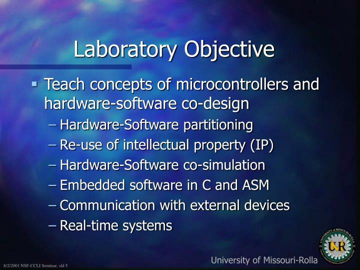 Laboratory Objective