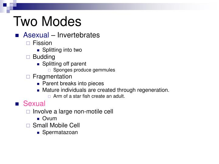 Two modes