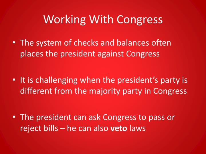 Working With Congress