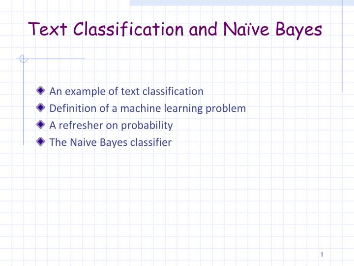 text classification and na ve bayes n.