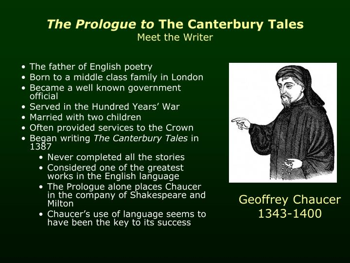the prologue to the canterbury tales poem