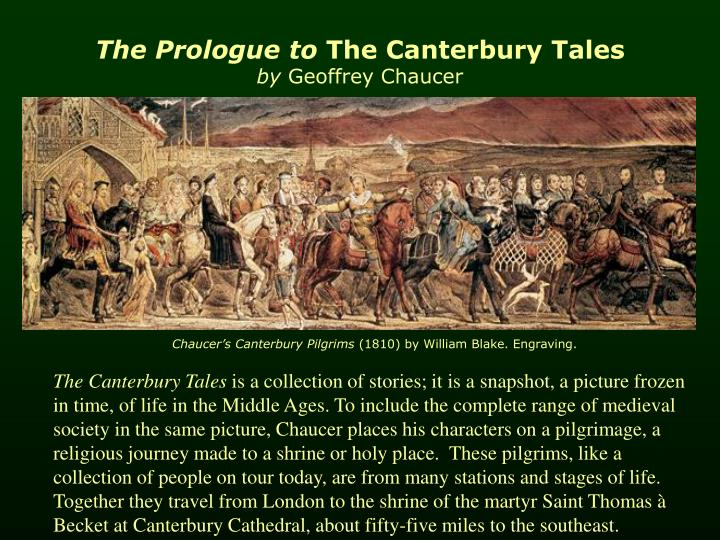 the prologue to the canterbury tales by geoffrey chaucer n.