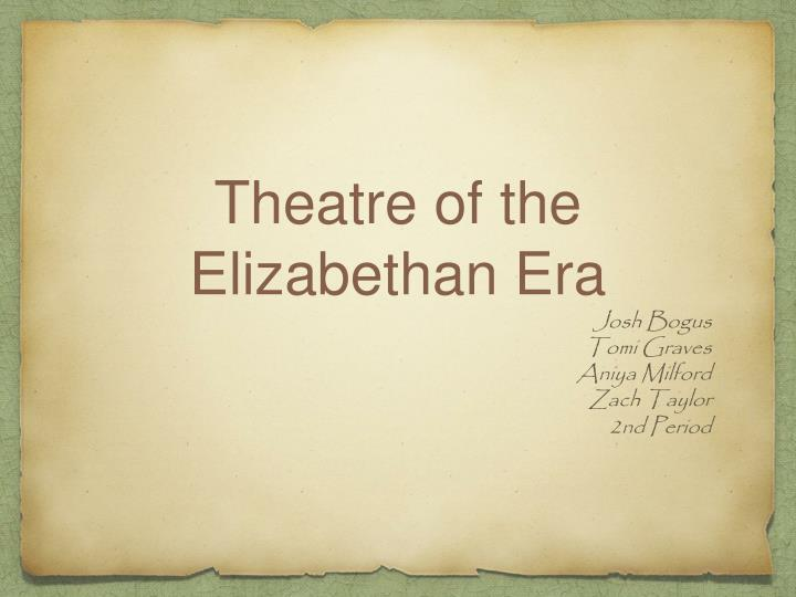 the elizabethan period