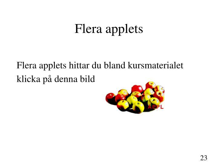 Flera applets