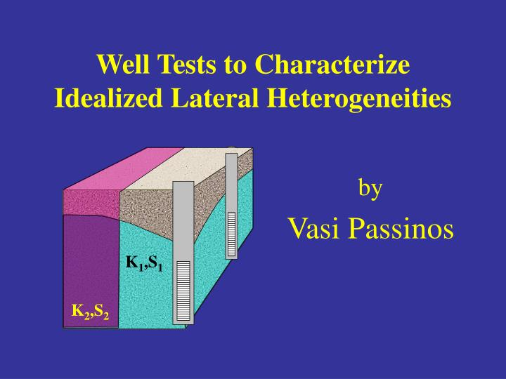 well tests to characterize idealized lateral heterogeneities n.