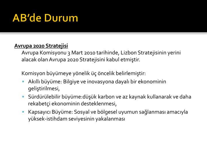 AB'de Durum