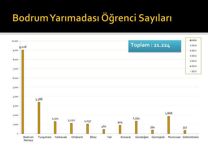 Bodrum Yarımadası Öğrenci Sayıları