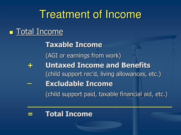 Treatment of Income
