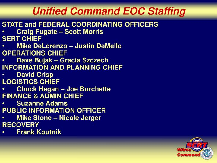 Unified Command EOC Staffing