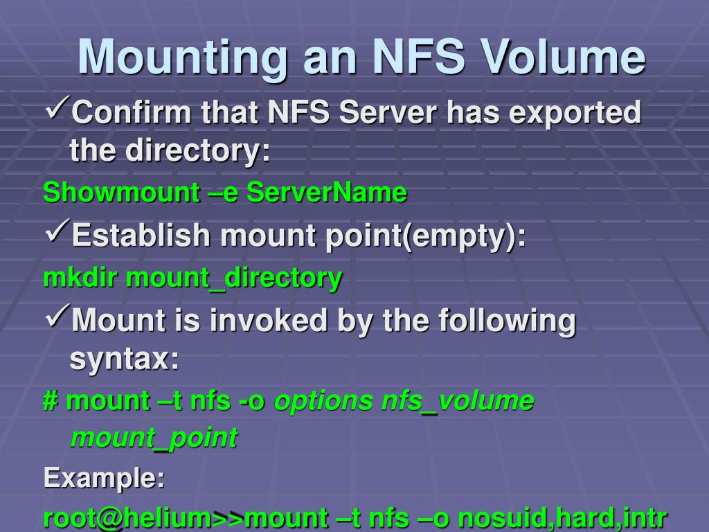 PPT - NFS Admin And Security PowerPoint Presentation - ID