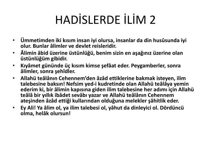 HADİSLERDE İLİM 2
