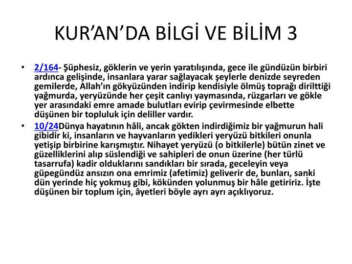 KUR'AN'DA BİLGİ VE BİLİM 3