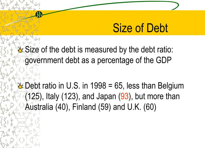 Size of debt