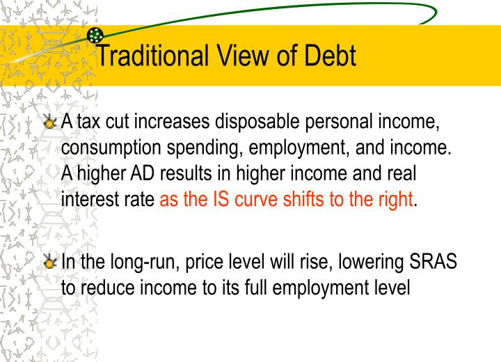 Traditional View of Debt