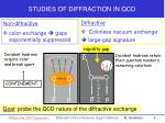 studies of diffraction in qcd