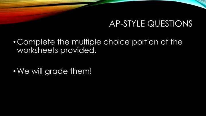 Ap style questions