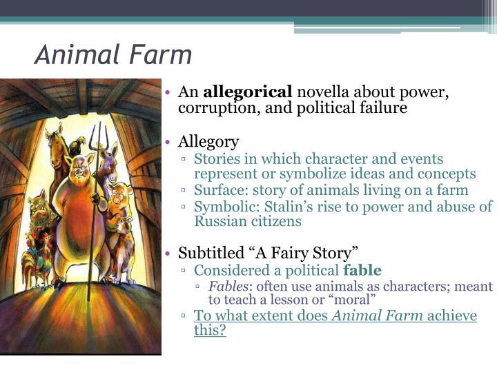 Ppt Animal Farm A Fairy Story George Orwell Powerpoint