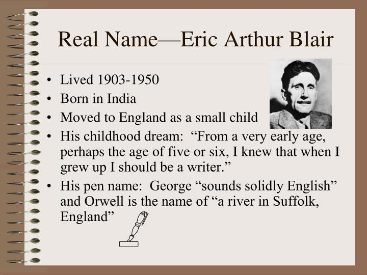 Real name eric arthur blair