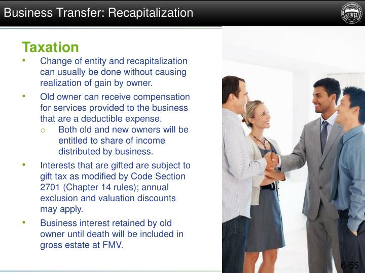 Business Transfer: Recapitalization