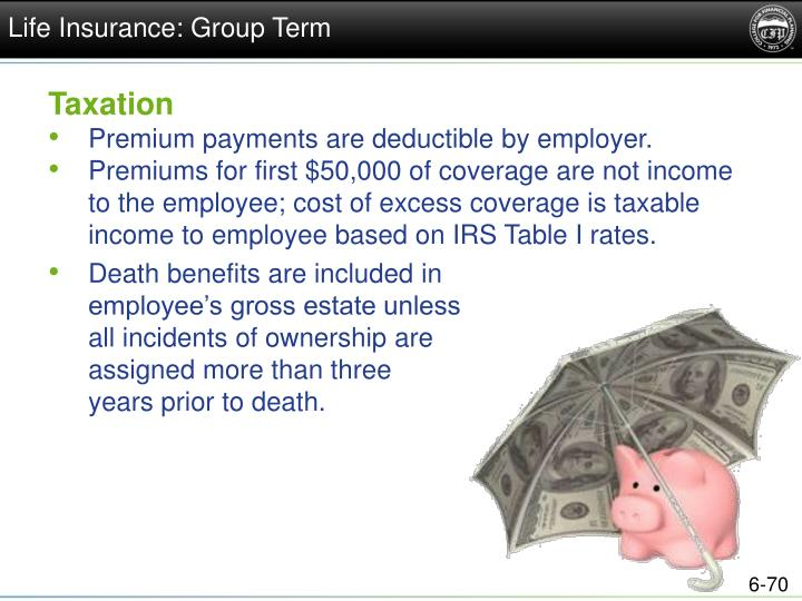 Life Insurance: Group Term