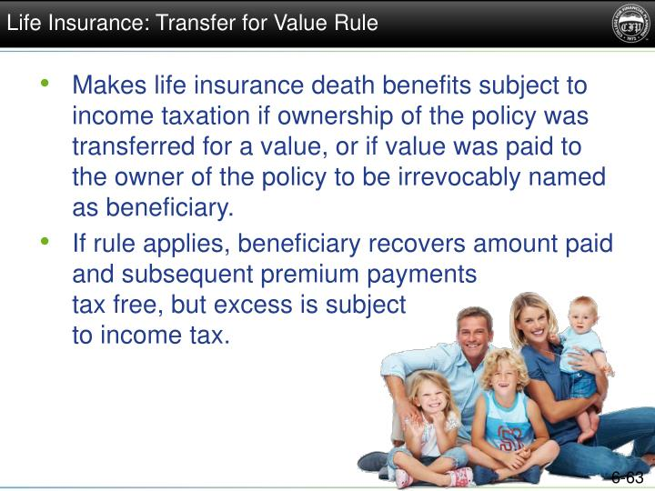 Life Insurance: Transfer for Value Rule