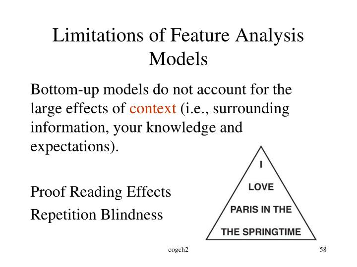 Limitations of Feature Analysis Models