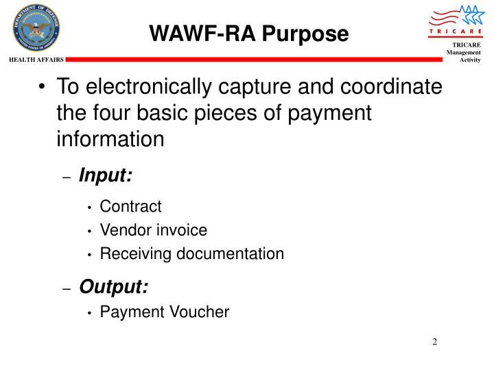 Wawf ra purpose