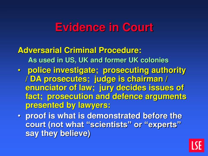 Evidence in Court
