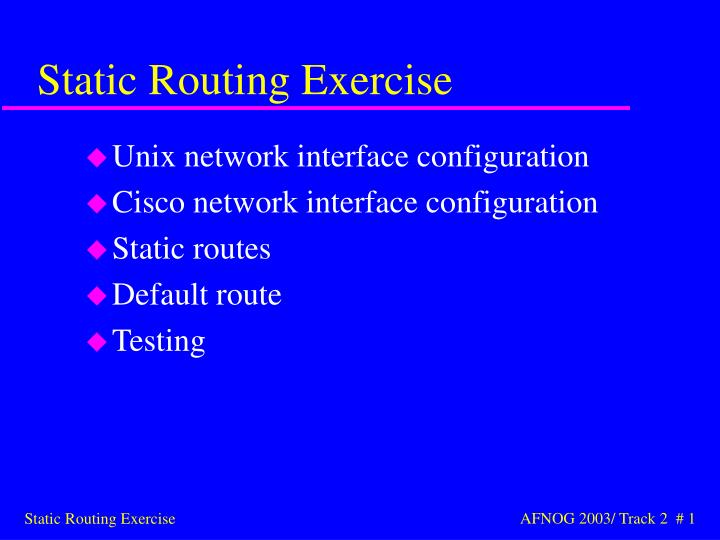 static routing exercise n.