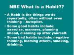 nb what is a habit