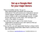 set up a google alert for your major donors
