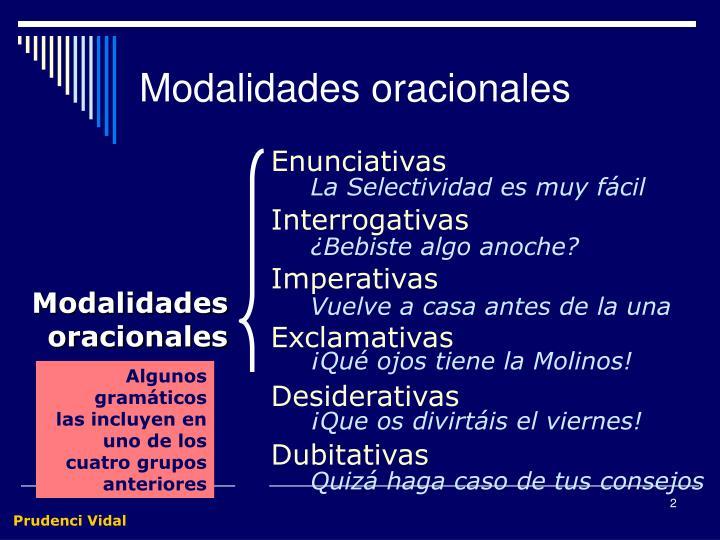 Modalidades oracionales1