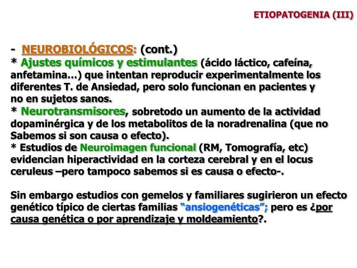 ETIOPATOGENIA (III)