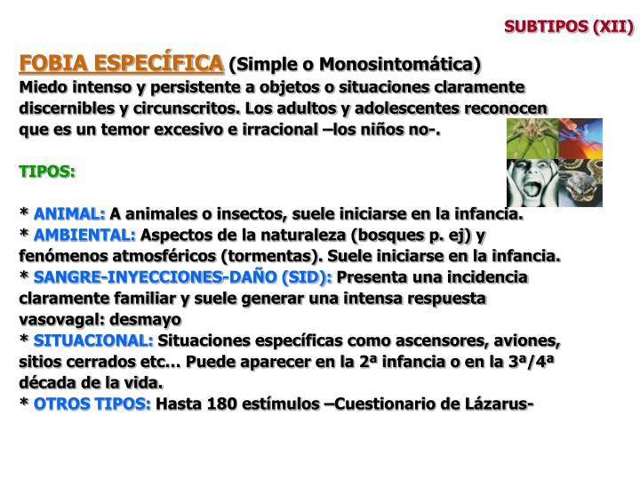 SUBTIPOS (XII)